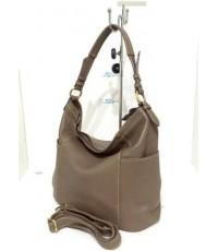 กระเป๋าหนังแท้ tlux Item PG002KK  สีเทาโอวัลติน
