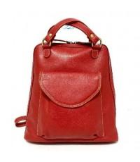 กระเป๋าเป้ หนังแท้ Tlux item CK002R  สีแดง