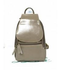กระเป๋าเป้ หนังแท้ Tlux item CE001K  สีเทา