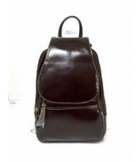 กระเป๋าเป้ หนังแท้ Tlux item CE001C  สีช๊อค