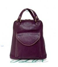 กระเป๋าเป้ หนังแท้ Tlux item CK002N  สีม่วง