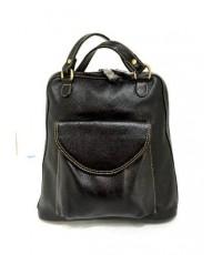 กระเป๋าเป้ หนังแท้ Tlux item CK002A  สีดำ