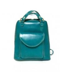 กระเป๋าเป้ หนังแท้ Tlux item CK001F  สีฟ้า เขียว
