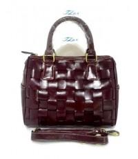 กระเป๋าหนังวัวแท้ Tlux item ABD01N  สีม่วง
