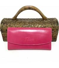 กระเป๋าสตางค์ หนังวัวแท้ Tlux item 12 สีชมพู