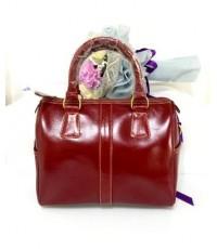 กระเป๋าหนังวัวแท้ Tlux item BW001R  สีแดง