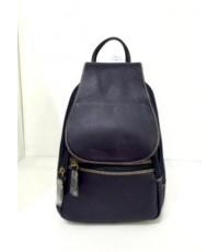 กระเป๋าเป้ หนังแท้ Tlux item CE022A  สีดำ