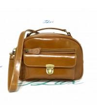 กระเป๋าหนังวัวแท้ Tlux item PF001D  สีเบจ