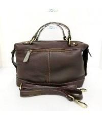 กระเป๋าหนังวัวแท้ Tlux item PK004A  สีดำ