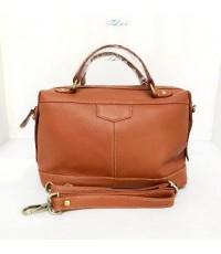 กระเป๋าหนังวัวแท้ Tlux item PK004B  สีแทน