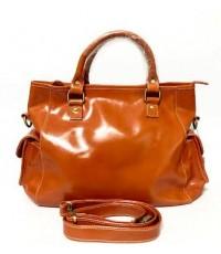 กระเป๋าหนังแท้ tlux  Item  DCC01L  สีส้ม