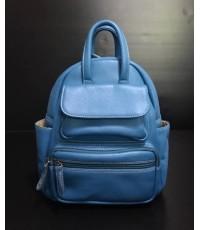 กระเป๋าเป้หนังแท้ tlux  Item  CW004F สีฟ้า