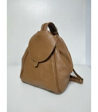 กระเป๋าเป้ หนังวัวแท้ Tlux item CB002BB สีน้ำตาลอ่อน