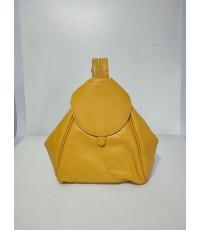กระเป๋าเป้ หนังวัวแท้ Tlux item CB002Y สีเหลือง