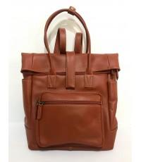 กระเป๋าเป้หนังวัวแท้ Tlux item ZH023  สีแทน