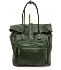 กระเป๋าเป้หนังวัวแท้ Tlux item ZH023  สีเขียว