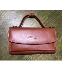 กระเป๋าสตางค์หนังวัวแท้ Tlux item No.68 สีแทน
