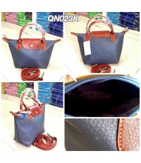 กระเป๋าหนังวัวแท้ Tlux item QN023K  สีเทา