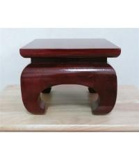 โต๊ะบูชาเดี่ยว ขาคู้ ขนาด 6X6 นิ้ว สีโอ๊ก