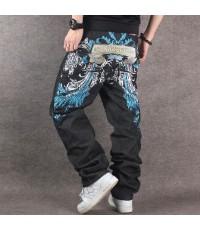 กางเกงยีนส์แนวโน้มแฟชั่นฮิปฮอป