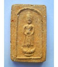 พระปางอุ้มบาตร  องค์ที่ 1  เนื้อดินเผา  คุณแม่บุญเรือน ปี2499