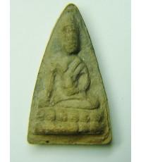 พระพุทโธน้อย องค์ที่ 51 คุณแม่บุญเรือน วัดอาวุธ  ปี2494 พิมพ์เล็ก  ฐานบัวใหญ่ เนื้อดินเผา