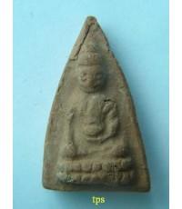 พระพุทโธน้อย องค์ที่ 93 คุณแม่บุญเรือน วัดอาวุธ  ปี2494 พิมพ์เล็ก เนื้อดินเผา