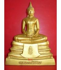พระบูชา หลวงพ่อโสธร รุ่นภปร . เนื้อกระเบื้องหลังคาโบสถ์  ปิดทอง    ปี 38