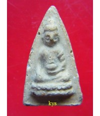 พระพุทโธน้อย องค์ที่ 127 คุณแม่บุญเรือน วัดอาวุธ  ปี2494 พิมพ์เล็ก เนื้อดินเผา สวยมาก