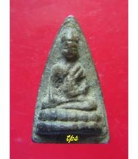 พระพุทโธน้อย องค์ที่ 179 คุณแม่บุญเรือน วัดอาวุธ  ปี2494 พิมพ์เล็ก เนื้อดินเผา สวยมาก