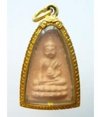 พระพุทโธน้อย องค์ที่ 238 พิมพ์กลาง เนื้อปูนเสก เลี่ยมทอง