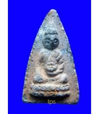 พระพุทโธน้อยปี2494 องค์ที่561 พิมพ์เล็ก เนื้อดินเผาสีผ่านดำ นิยมครับ
