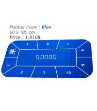 Rubber Foam สีน้ำเงินแบบเหลี่ยม สำหรับปูโต๊ะโป้กเกอร์ Foam Poker Table Top