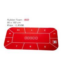 Rubber Foam สีแดงแบบเหลี่ยม สำหรับปูโต๊ะโป้กเกอร์ Foam Poker Table Top