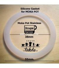 ซีล ซิลิโคน MOKA POT โมก้า พอท สแตนลส ขนาด 2cup อะไหล่ o ring seal Gasket/Filter Replacement Parts