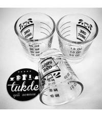 แก้วช็อต กาแฟ Shot Glass ขนาด1 ช็อต ความจุ 2 ออนซ Shot Glass มีมาตรวัด บอกปริมาณ ์แก้วตวง 2Oz MEASUR