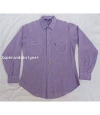 เสื้อลีวายส์ผ้าแชมเบรย์ Vintage 70s LEVI\'S USA chambray Work Shirt S