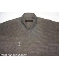 เสื้อเชิ้ตแบรนด์เนม หรู BACHRACH ITALY Men Casual Shirt Long Sleeve Woven Dot  Striped size