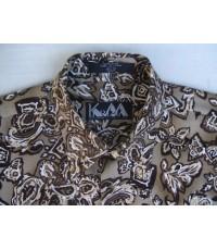 เสื้อเชิ้ตแบรนด์เนม หรู KRIZIA PAISLEY  FLORAL PATTERNED Men Casual Shirt Long Sleeve Plaid Size M