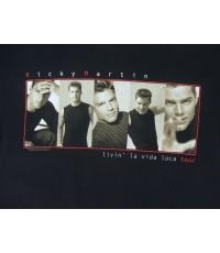 เสื้อทัวร์มือสอง Vintage 99 RICKY MARTIN LIVIN LAVIDA LOCA tour concert t-shirt M