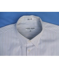 เสื้อเชิ้ต GIORGIO ARMANI LE COLLEZIONI Italy shirt used designer แบรนด์เนมมือสองแท้จากอิตาลี 17-35
