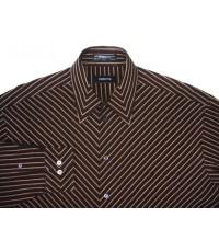 เสื้อเชิ้ตแบรนด์เนม หรู Claiborne Men Dress Shirt Long Sleeve Striped Size 16-32/33