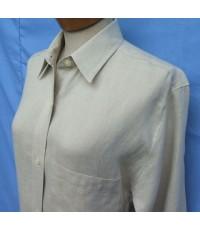 เสื้อเชิ้ตผู้หญิงผ้าลินิน Ellen Tracy Linen Women Casual Shirt Long sleeve Size 4