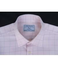 เสื้อเชิ้ตแบรนเนมหรู Charles Tyrwhitt Shirt Marker Men Dress Shirt Long Sleeve F/C Plaid Sz 18-34.5