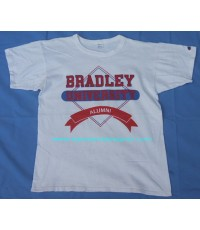 เสื้อยืดมือสอง Vtg 90 BRADLEY UNIVERSITY CHAMPION TAG T-SHIRT size L
