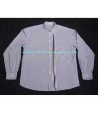 BYBLOS Italy used designer clothes เสื้อเชิ้ตแบรนด์เนมมือสองลำลองผู้ชายแขนยาวลายทาง 52