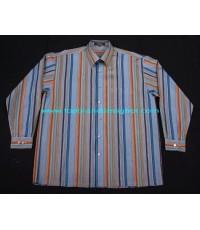 เสื้อเชิ้ต S.T. DUPONT Paris ShirtUsed designer Clothes แบรนด์เนมมือสองของแท้จากฝรั่งเศส L