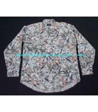 เสื้อเชิ้ต Christian Dior shirt Used designer แบรนด์เนมมือสองลำลองผู้ชายลายดอกไม้ L