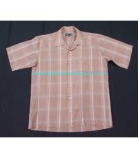 DAKS London shirt used designer เสื้อเชิ้ตแบรนด์เนมมือสองลำลองชายแขนสั้นลายสก็อตลินิน M