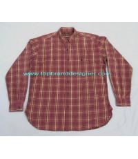 เสื้อผ้าช่างเวิร์คเชิ้ตชินสแตร็บชายต่อ Vintage Let it ride chin strap gusset work shirt L